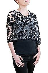 "Opulent Luxury Fashion Pashmina Wrap Scarf For Women Reversible Soft Luxurious Premium 100% Spun Rayon Shawl 72"" x 19"" Long"