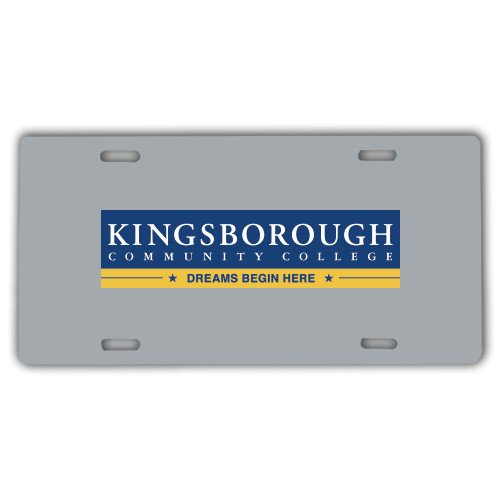 Kingsborough License Plate 'Official Logo' by CollegeFanGear