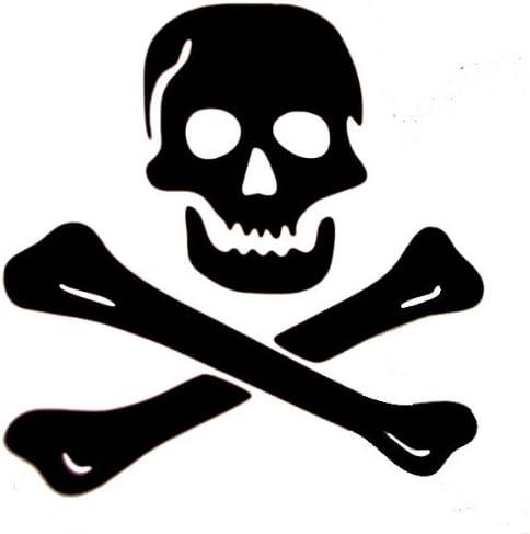 Skull and Crossbones Vinyl Die Cut Car Decal Sticker FREE SHIPPING