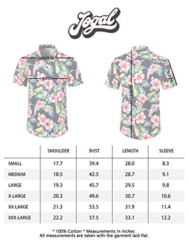 09e643fdb JOGAL Men's Flower Casual Button Down Short Sleeve Hawaiian Shirt Small  A335 BlackHibiscus