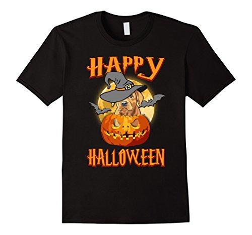 Mens Labrador Dog Happy Halloween T-shirt Pumpkin Costumes XL Black