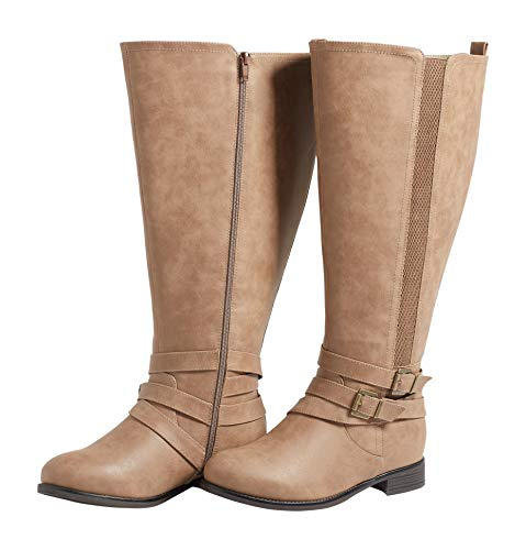 maurices Women's Gia Extra Wide Calf Boot 7 Taupe from maurices