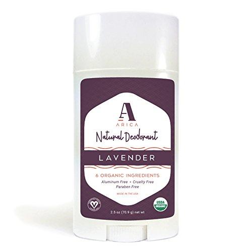 Arica Natural Deodorant | Organic Ingredients, Lavender Scent, Aluminum-Free 2.5 oz