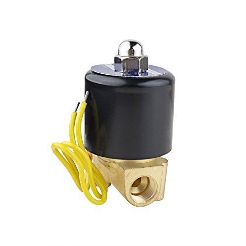 uxcell AC 110V Electric Solenoid Valve NPT 1/4 inches Normally Closed NC Direct Action for Water Air Gas Fuels ()