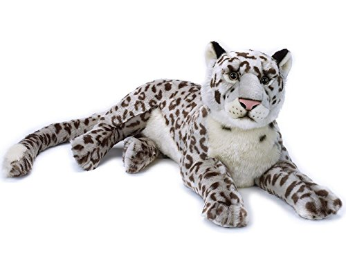 National Geographic 770823 Plush Snow Leopard, Grey Plush Snow