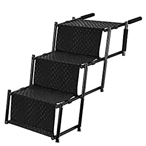 Amazon.com : Upgraded Pet Dog Step Stairs, Accordion Metal