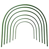 LBZE 4ft long Steel with Plastic Coated hoops,Greenhouse Hoops,Grow Tunnel,Support Hoops for Garden Fabric,6Pcs (Arch Size: 18.9'' H x 18.9'' W)