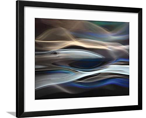 ArtEdge The Whale by Ursula Abresch, Black Matted Wall Art Framed Print, 18 x 24'