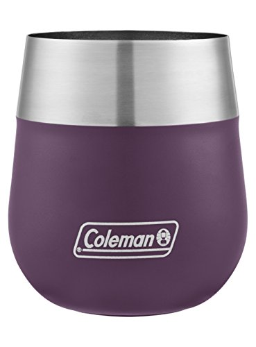 Coleman Claret Insulated Stainless Steel Wine Glass, Violet, 13 oz. -