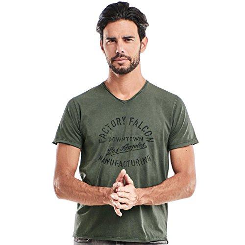 emilio adani Herren V-Neck T-Shirt, 23886, Grün