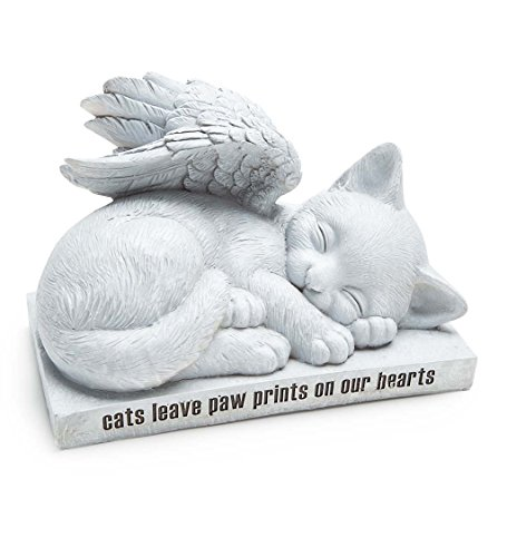 Cat Angel Memorial Statue - 10 L x 6 W x 7 H