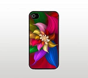 Abstract Flower Snap-On Case for Apple iPhone 5 - Hard Plastic - Black - Cool Custom Cover - Beautiful Design