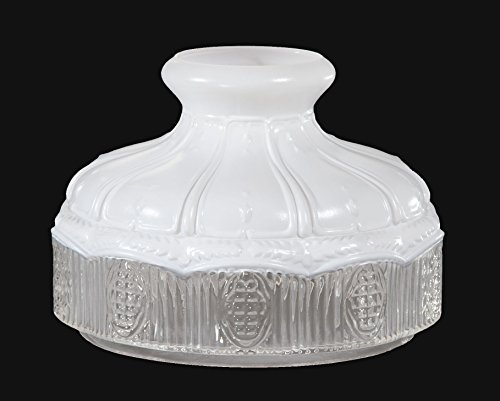 B&P Lamp 10 Inch Glass Shade, Stain (Painted) Top, Clear Bottom ()