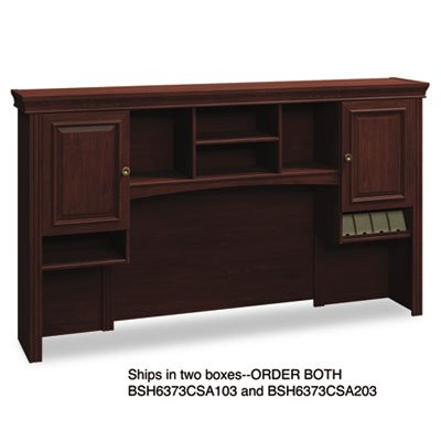 Bush Tall Hutch, 72-Inch by 12-1/2-Inch by 41-1/4-Inch, Harvest Cherry -