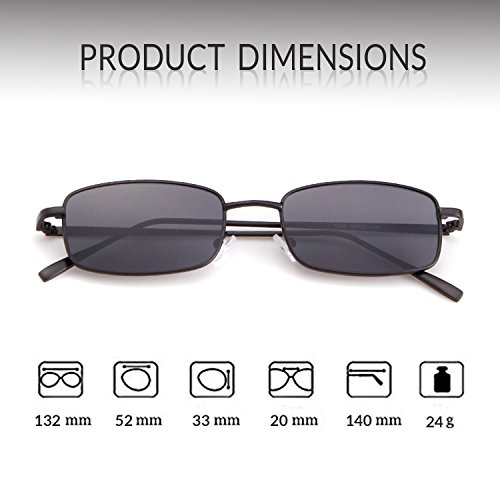 Men Black Fashion Frame Square for Retro Lens Women Gray ADEWU Glasses Sunglasses Dark xZP0an0gw6