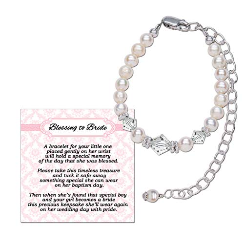 Sterling Silver Blessing to Bride Bracelet for Baby Girl Blessing Day