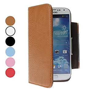 PU Leather Case with Card Slot for Samsung Galaxy S4 I9500 (Assorted Colors) --- COLOR:White