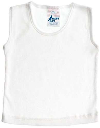 Baby Jay Unisex Baby Sleeveless Tank Top, White, 18-24 Months (Boy Beater Tank)