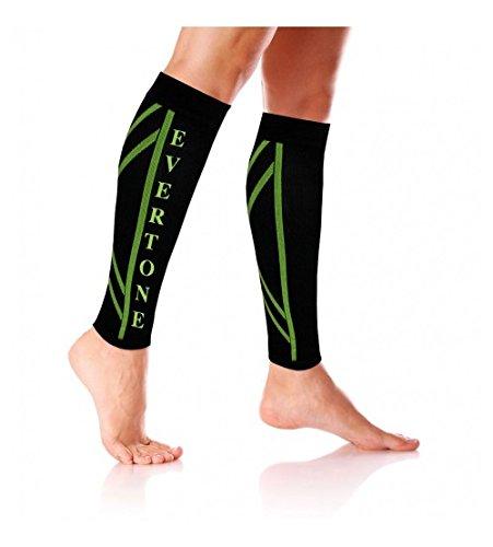 PU Health 2 Evertone Fitness Compression Calf Leg Support Socks Shin Splints Sleeves, 2.1 Ounce