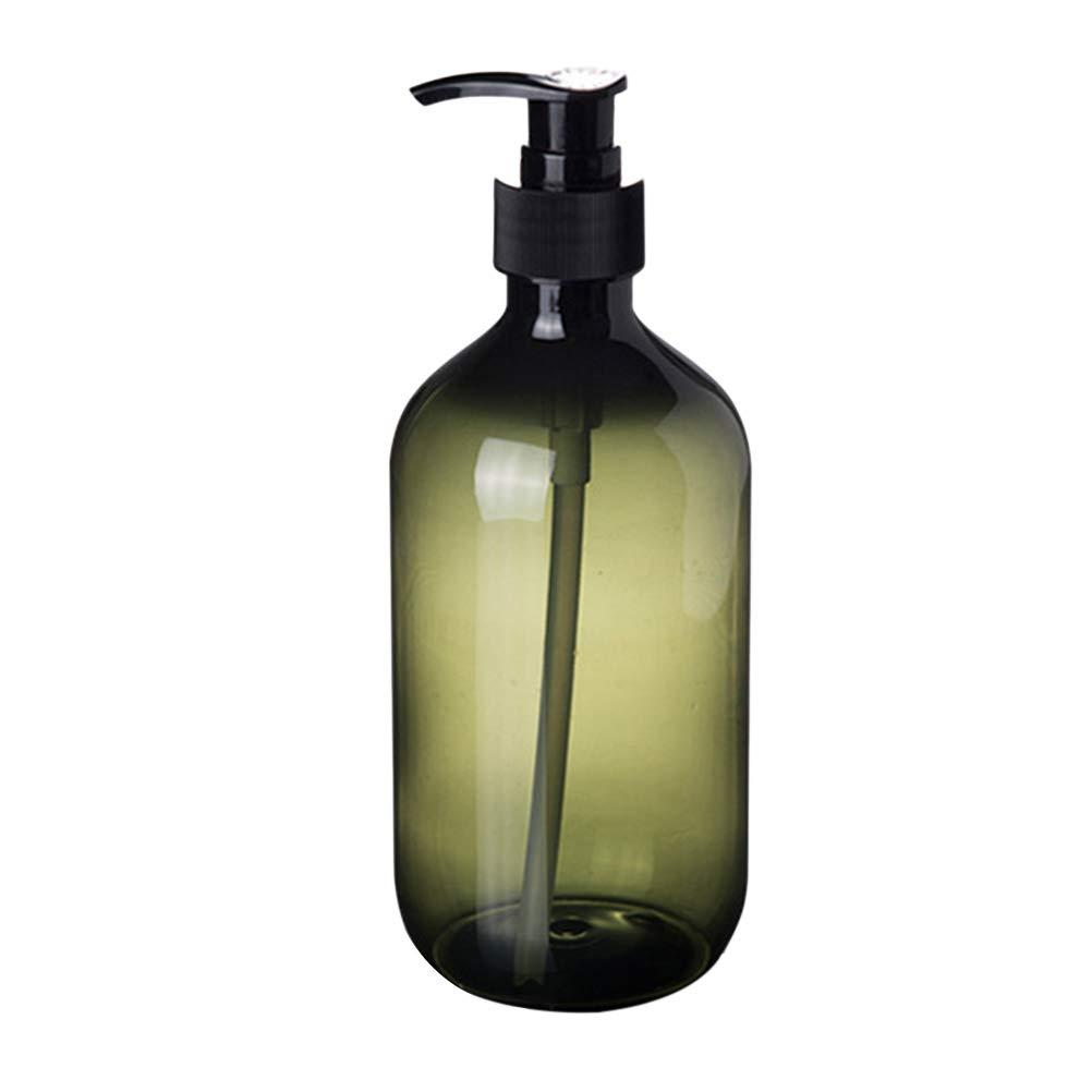 OUNONA 2PCS Empty Shampoo Bottles Soap Dispenser Lotion Pump Bottles Container 500ml (Green)