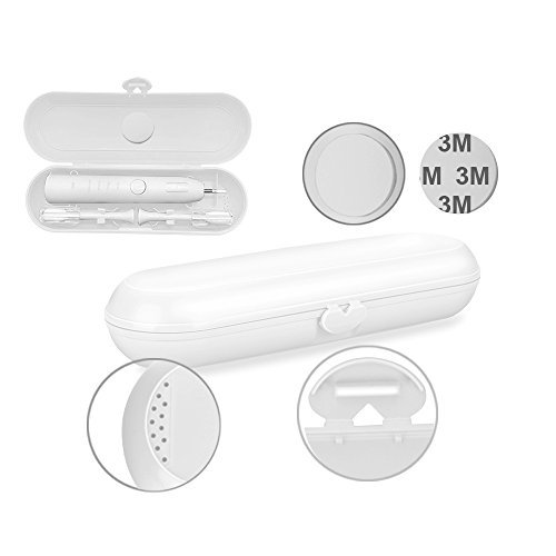 - Replacement Travel Electric Toothbrush Box, Transy Protector Case for Braun Oral-B Toothbrushes Heads Holder (white)