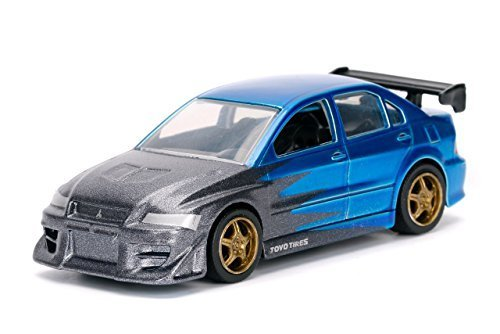 Price comparison product image Jada 1 / 64 Metal JDM TUNERS 2002 Mitsubishi Lancer Evolution 7 Blue Diecast Toy Car In Blister Pack