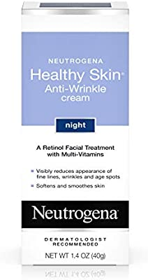Neutrogena Healthy Skin Anti Wrinkle Retinol Cream with Vitamin E and Vitamin B5 - Night Moisturizer with Retinol, Vitamin E, Vitamin B5, Glycerin, 1.4 oz