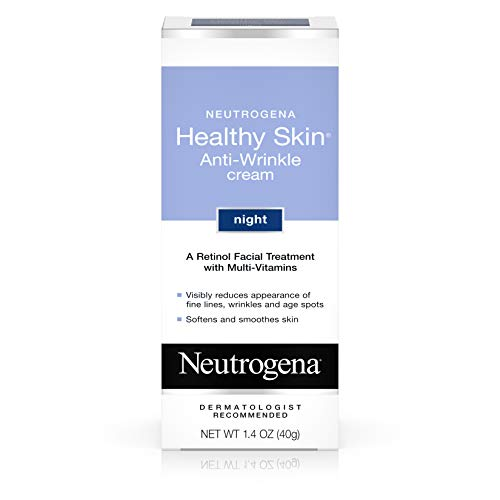Neutrogena Healthy Skin Anti Wrinkle Retinol Cream with Vitamin E and Vitamin B5 - Night Moisturizer with Retinol, Vitamin E, Vitamin B5, Glycerin, 1.4 oz (Best Face Cream For Older Skin Uk)