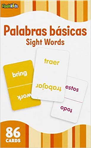 Sight Words (Flash Kids Spanish Flash Cards) 86 Cards (Flash Kids ...