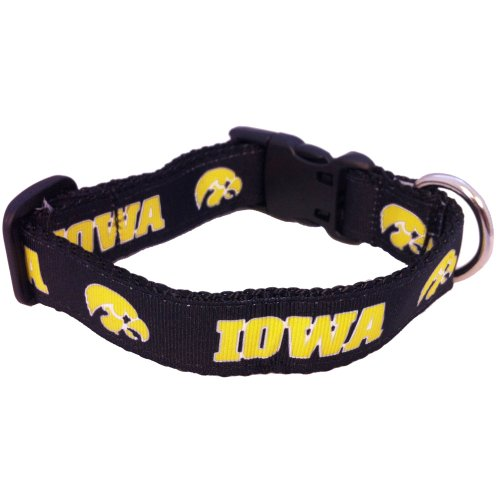 NCAA Iowa Hawkeyes Dog Collar (Team Color, Large)