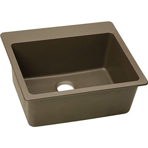 Elkay ELG2522 Kitchen Sink Gourmet Fixture Granite; Mocha
