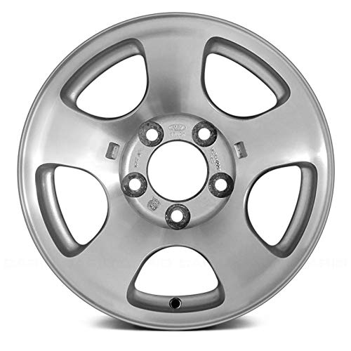 Alloy Wheel 5 Double Spoke - Replacement 16X7 Alloy Wheel 5 Double Spoke Sparkle Silver w/a Machined Face Fits Ford F-150 Heritage