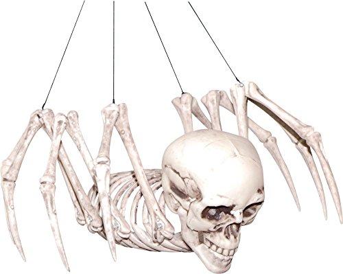 Spider Skeleton Halloween Prop Skull Plastic Head Body Haunted House Decoration]()