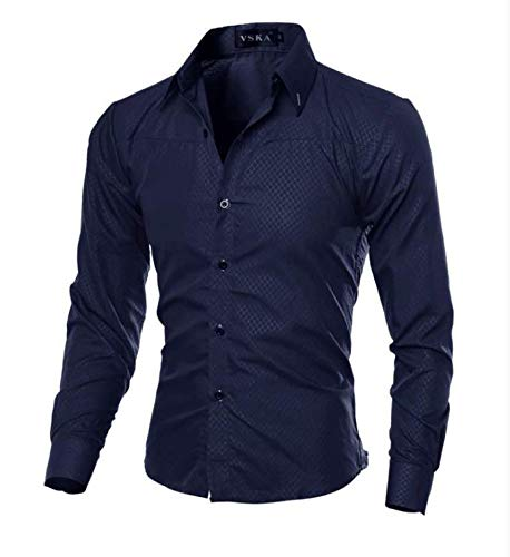 Camisa Social Masculina Slim Fit Lawyer Preto (G)