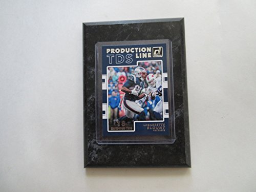 - LeGARRETE BLOUNT NEW ENGLAND PATRIOTS PRODUCTION LINE TDS 2017 PRIZM FOOTBALL PLAYER CARD MOUNTED ON A