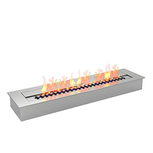 Regal Flame PRO 24 Inch Bio Ethanol Fireplace Burner Insert - 4.8 Liter (Cost Gas Convert Fireplace Logs To To)