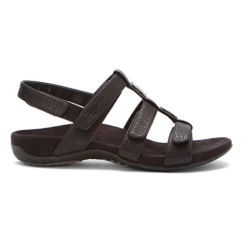 Womens Black Croco Sandals Vionic Amber 44 Synthetic zxwgnqdB