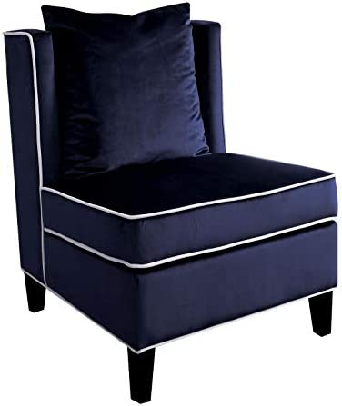 Major-Q 9059574 Wing Back Style Velvet Accent Chair