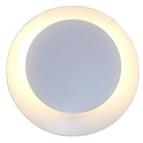 Nordic Creative Double Circle Rotating Iron Wall Lamp After The Modern Personality Art Aisle Corridor Round 5W-LED Solar Eclipse Decorative Wall Light by Shubiao