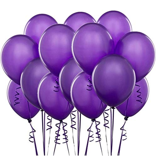 Pack of 100 Purple Latex Balloons for Party Wedding Theme Decoration Arch Supplies, 10 Inch