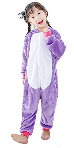 BLIFECOS BELIFECOS Flannel Children Purple Unicorn Cosplay Costume Onesie Pajamas for Kids125