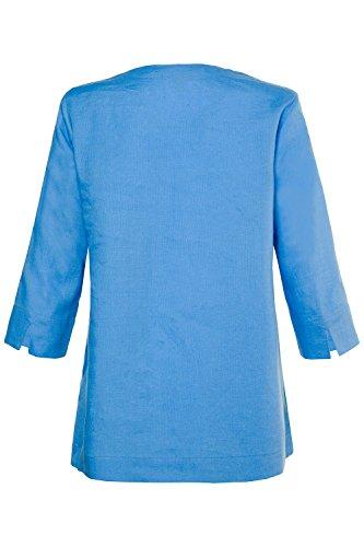 Grandes Popken 716002 Top Large Col Printemps Tunique Coton Bleu Tailles Shirt Femme Casual Haut Blouse t Rond Femme T Manches Ulla Longues REdFwpqSd