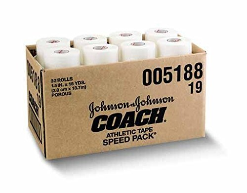 Johnson & Johnson Consumer Coach Porous Athletic Tape, 32 Count