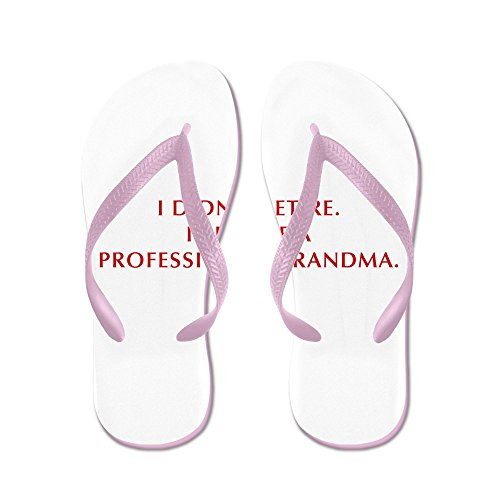 Cafepress I-didnt-retire-grandma-opt-dark-red - Slippers, Grappige Leren Sandalen, Strand Sandalen Roze