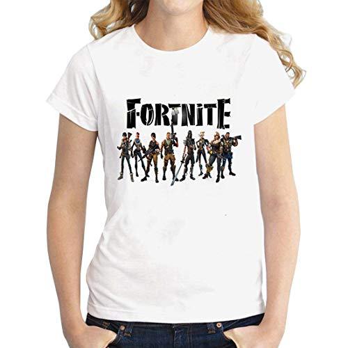 shirt Casual Donna Tee Youth Camicie Hamiqi T Corte Ladies Magliette A Fortnite Top Maniche 7x0wqXIU