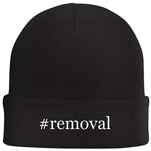 Tracy Gifts #Removal - Hashtag Beanie Skull Cap with Fleece Liner, Black, One Size