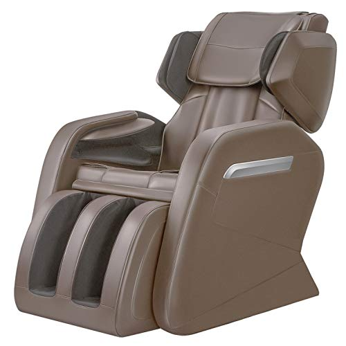 (OOTORI Full Body Massage Chair Recliner, Zero Gravity Neck, Back, Legs, and Foot Shiatsu Massager with Heat and Foot Rollers (Coffee))