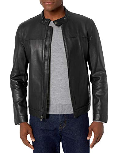 Cole Haan mens Bonded Leather Moto Jacket