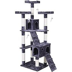 Songmics 180 cm Árbol para gatos Rascador con casetas escalerillas ratones de juego PCT53G