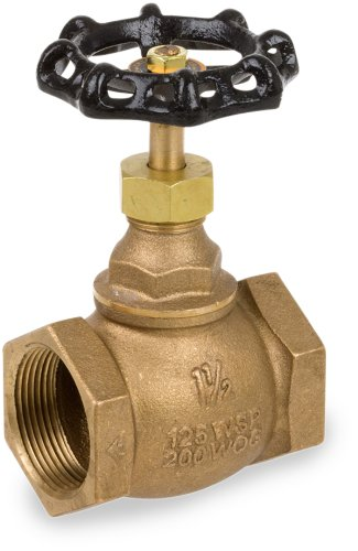 "Smith-Cooper International 4101 Series Bronze Globe Valve, Inline, 1/2"" NPT Female, Non-Potable Water Use Only"
